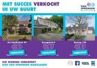 Van Spronsen Makelaars, Verkocht flyer maand september: postcode 3343