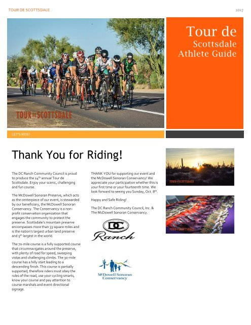 2017 Tour de Scottsdale Athlete Guide
