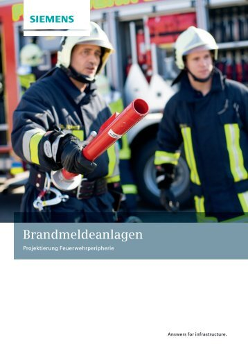 Brandmeldeanlagen - Projektierung Feuerwehrperipherie - Siemens