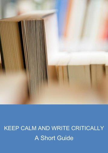 CALM Critical Writing Guide