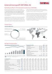 Factsheet RATIONAL AG