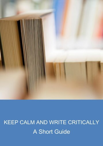 CALM Critical Writing Guide