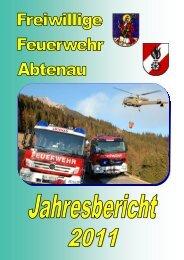 Jahresbericht 2011 - Feuerwehr Abtenau