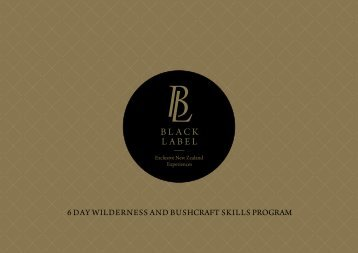 3-6 Day Wilderness and Bush Skills Adventure Package-2017-09
