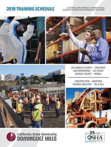 2018 CSUDH OSHA Course Catalog (Interactive)