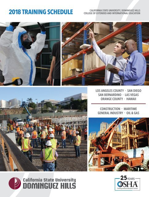 2018 CSUDH OSHA Course Catalog (Interactive)