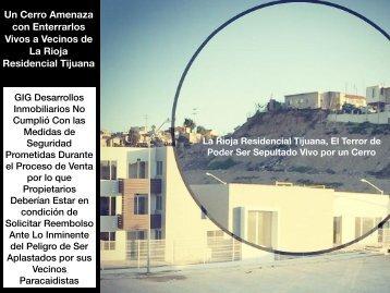 La Rioja Residencial Tijuana Un Cerro Amenaza con Enterrar Vivas a Decenas de Familias por Culpa de GIG Desarrollos Inmobiliarios