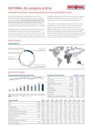 RATIONAL AG company profile