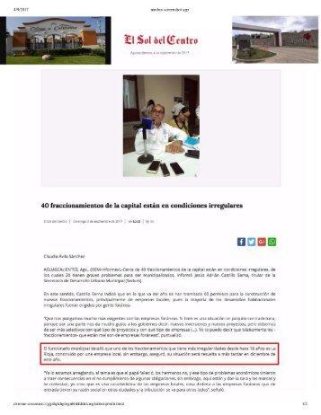 La Rioja Residencial AguasCalientes Llevan 18 Años Construyendo Con las Patas el Fraccionamiento, Denuncia Ayuntamiento Serias Irregularidades de Constructora