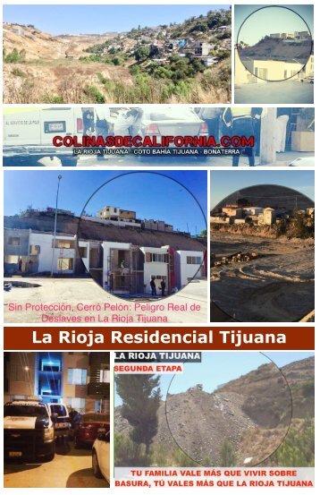 La Rioja Residencial Tijuana Pestilente Relleno en Zona de Paracaidistas e Inseguridad y Baja Plusvalia