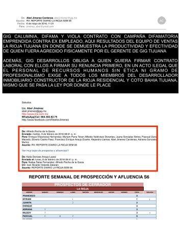 RV REPORTE DIARIO LA RIOJA SEM 06