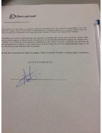 DECAMAR Desarrollos GIG CONSORCIO G La Rioja Tijuana Te Obliga a Firmar TU RENUNCIA ANTES DE FIRMAR TU CONTRATO - Asi se las Gastan en la Empresa del Inmundo Raimundo Gomez Flores - La Rioja Tijuana.JPG