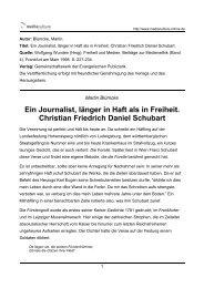 Ein Journalist, länger in Haft als in Freiheit. Christian Friedrich ...
