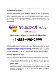 How to Resolve Yahoo Email Attachments Problem with Yahoo Customer Support Service