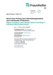 Pruefbericht Fraunhofer ISE - YADOS Wohnungsstation YADO|HOME