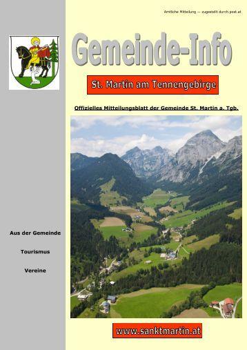 7,34 MB - Gemeinde St. Martin am Tennengebirge