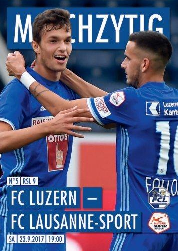 FC LUZERN MATCHZYTIG N°5 1718 (RSL 9)