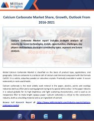 Calcium Carbonate Market Share, Growth, Outlook From 2016-2021