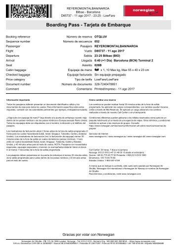 Tarjeta de embarque de REYEROMONTALBAN - NAROA - OTQLUV