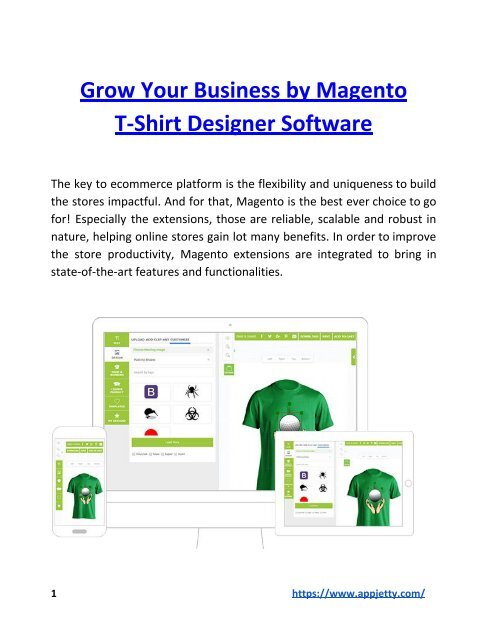 Grow Your Business By Magento T Shirt Designer Software