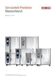 Serviceteil-Preisliste Deutschland - Rational