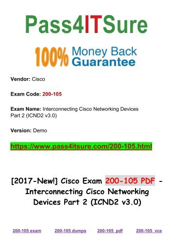 New Pass4itsure Cisco 200-105 Dumps PDF 204q