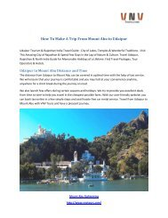 How To Make A Trip From Mount abu to Udaipur