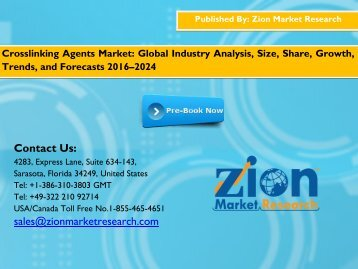 Crosslinking Agents Market, 2015 – 2021