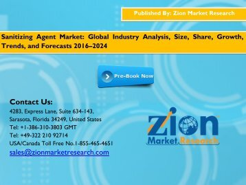 Sanitizing Agent Market, 2015 – 2021