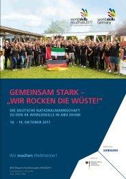 Wir rocken die Wüste - Die Deutsche Nationalmannschaft bei der WM der Berufe in Abu Dhabi