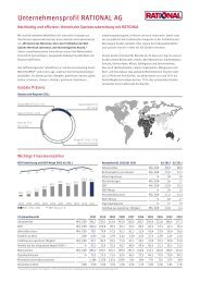 Unternehmensprofil RATIONAL AG