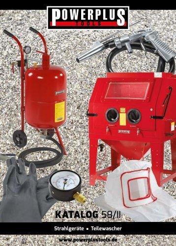 Powerplustools Katalog Sandstrahlen - Sandstrahlkessel - Sandstrahlkabine - Teilewaschgeräte