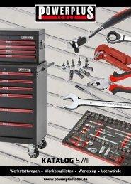 Powerplustools Katalog Werkstattwagen - Werkzeugkiste - Werkzeug - Lochwände
