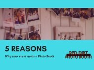 5 reasons why your event needs a photo Booth