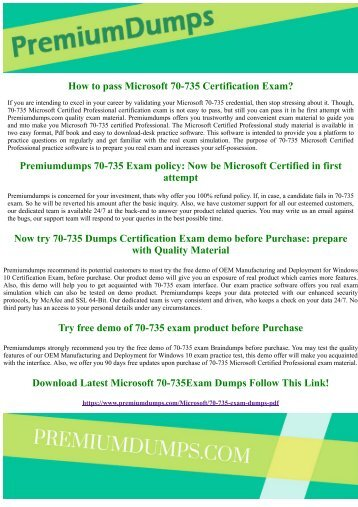 70-735 Microsoft Certified Professional Exam Questions