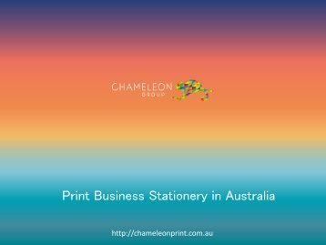 Print Business Stationery in Australia