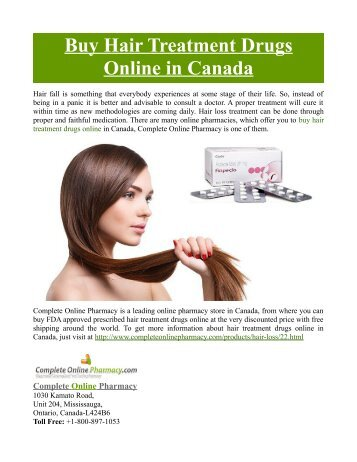 Buy Hair Treatment Drugs Online in Canada