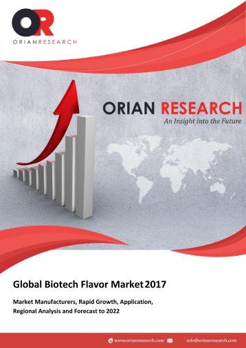 Biotech Flavor Market Latest Innovations by Product types and Competitive Landscape 2022