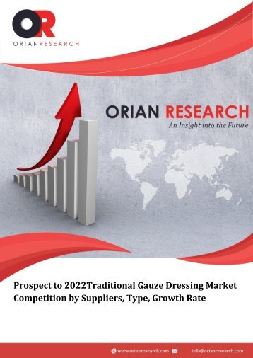 Prospect to 2022Traditional Gauze Dressing Market Competition by Suppliers, Type, Growth Rate