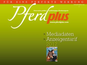 Mediadaten > Anzeigentarif 2012 - Pferdplus