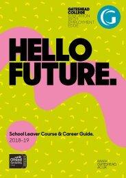 School Leaver Course & Career Guide 2018-19