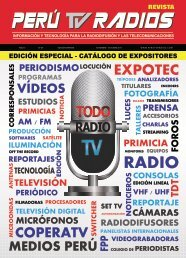 Revista PERU TV RADIOS SET - OCT 2017 (Notas Informativas)