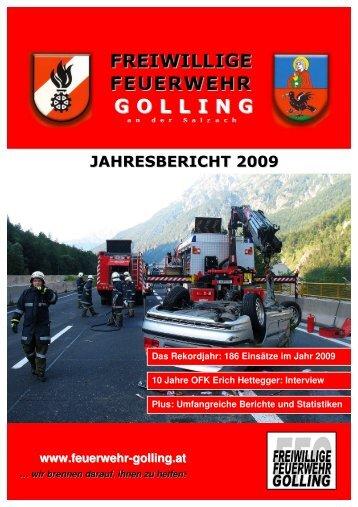 Jahresbericht für das Jahr 2009 - Freiwillige Feuerwehr Golling