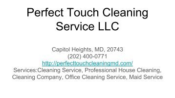 Perfect Touch Cleaning Service LLC