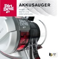 Dirt Devil Dirt Devil Cordless handheld vacuum cleaner - DD698-5 - Manual (Multilingue)