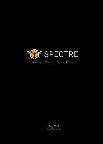 Spectre ICO Whitepaper