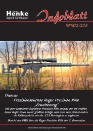 Henke-Infoblatt Ruger Precision Rifle in .223 Remington
