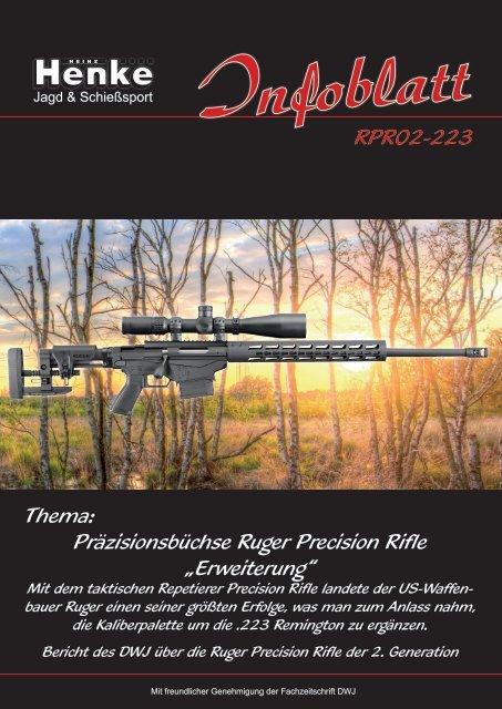 Henke-Infoblatt Ruger Precision Rifle in .223 Remington