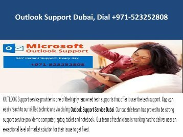 Outlook SupportDubai Dial+971-523252808