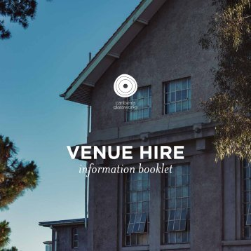 Canberra Glassworks Venue Hire